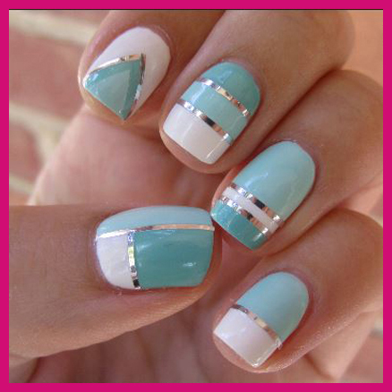 summer_nail_art_mint_chrome