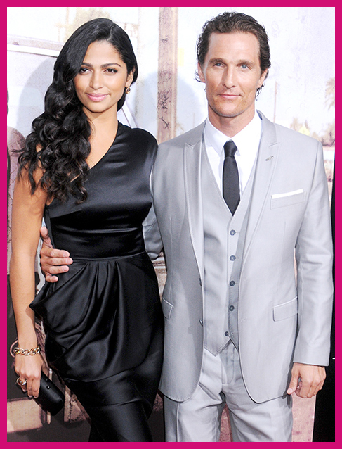 Top Celebrity Couples Camilla Alves Matthew McConaughey