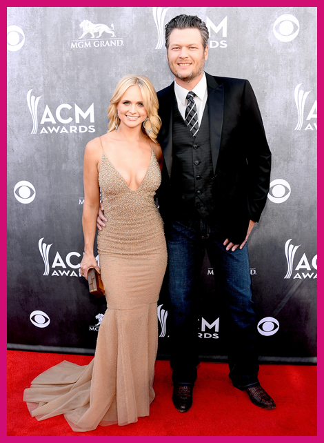 Top Celebrity Couples Miranda Lambert Blake Shelton