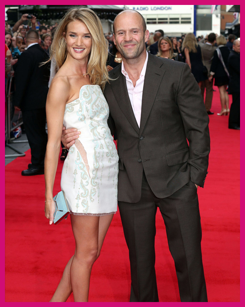 Top Celebrity Couples Rosie Huntington Whitely and Jason Statham