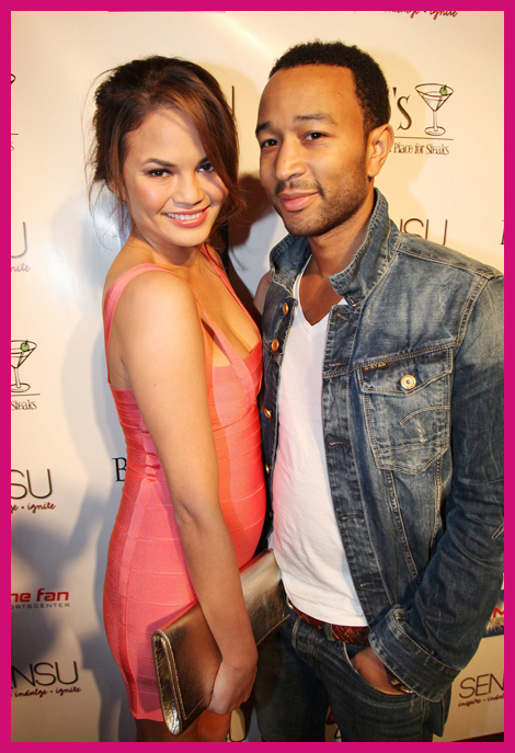 Top Celebrity Couples Chrissy Teigen John Legend