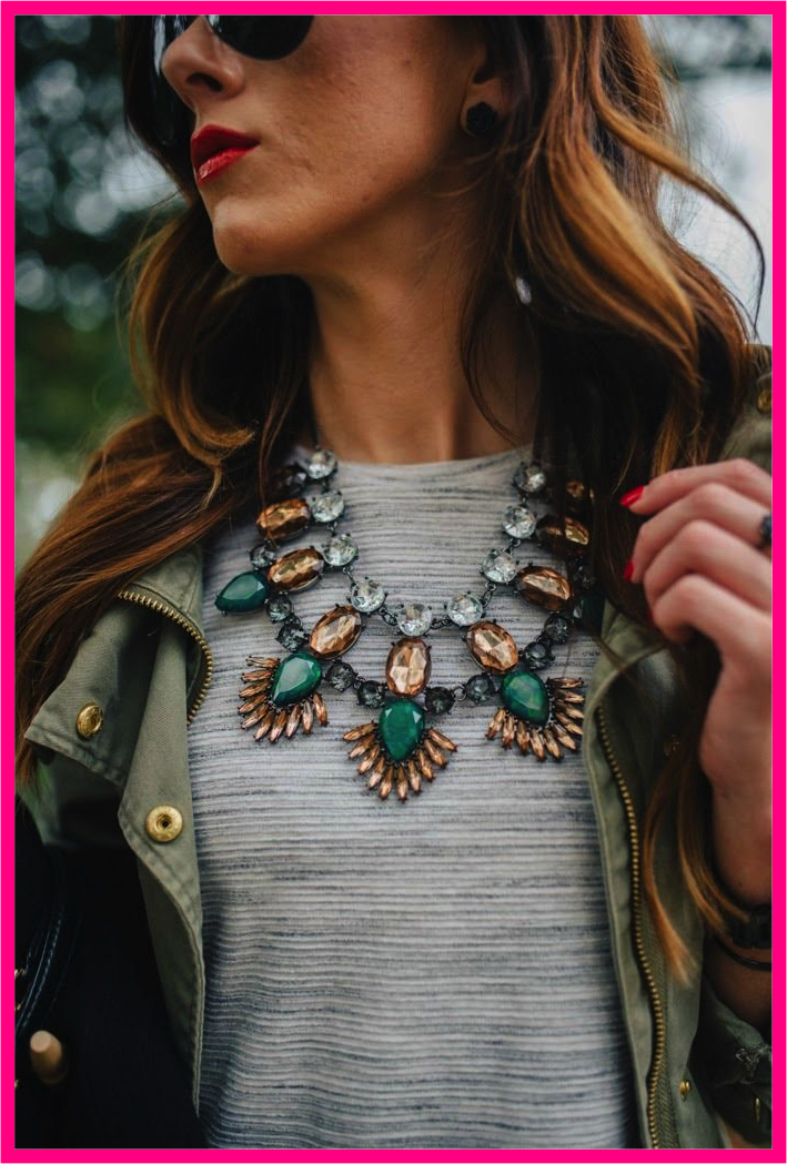CHIC St Patricks Day: Statement Necklace
