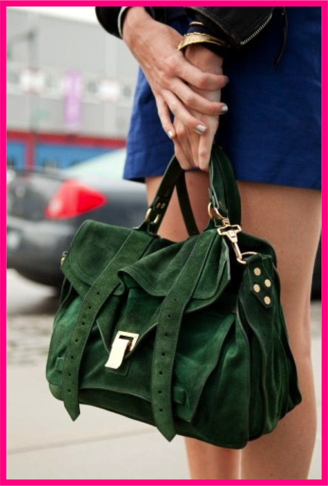 CHIC St Patricks Day: Green Purse